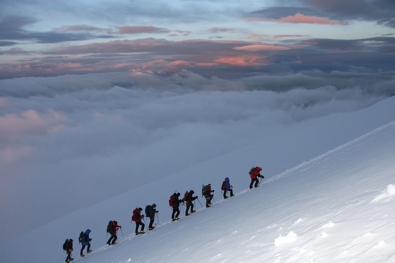 Summiting Mt Elbrus