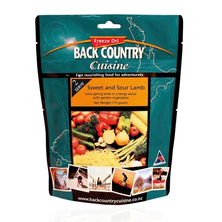 Back Country Cuisine Sweet and Sour Lamb 1 Serve Multicoloured Single