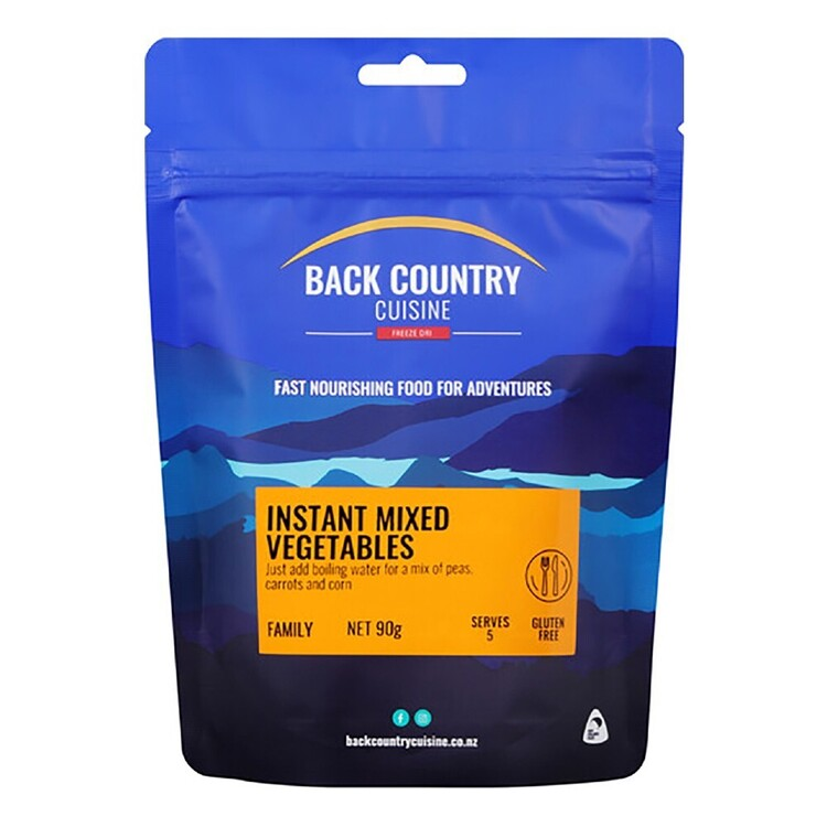 Back Country Cuisine Instant Mixed Vegetables 90g Multicoloured Serves 5