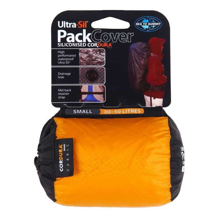 Sea to Summit Ultra-Sil® Pack Cover Small Orange & Yellow Small