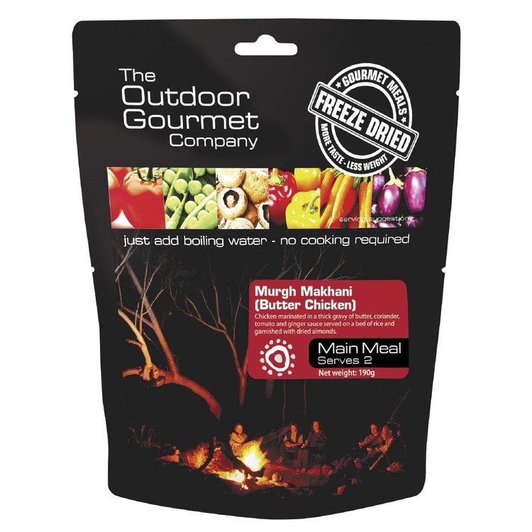 The Outdoor Gourmet Company Butter Chicken Double Serve Black Double