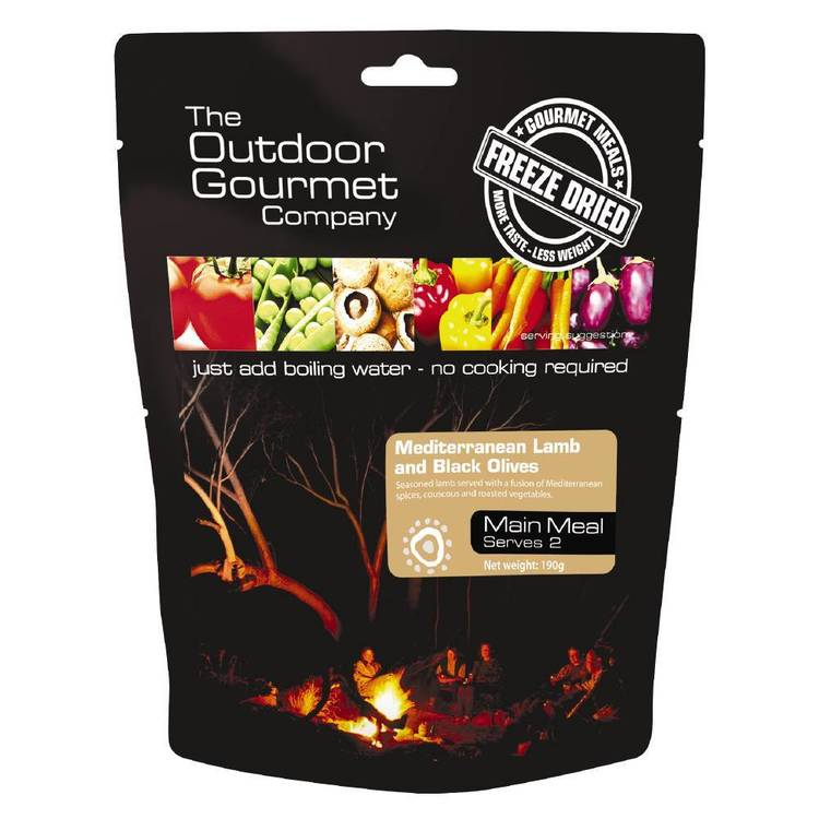 The Outdoor Gourmet Company Mediterranean Lamb and Black Olives Double Serve