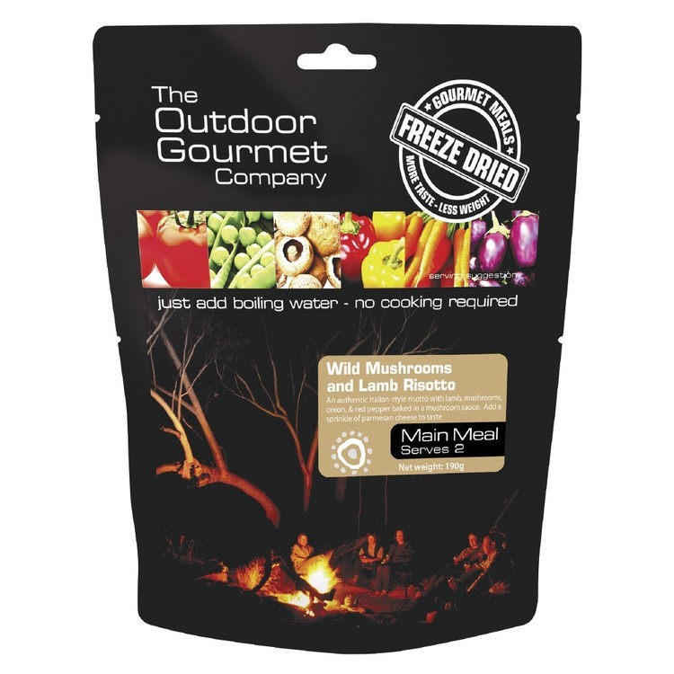 The Outdoor Gourmet Company Wild Mushroom and Lamb Risotto Double Serve