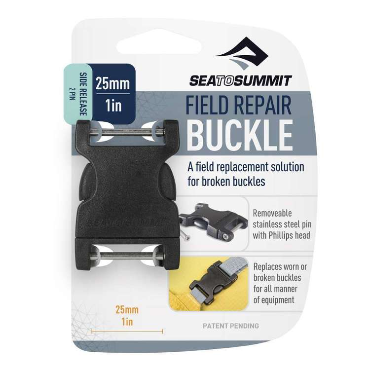 Sea to Summit Field Repair Buckle Side Release 2 Pin Black