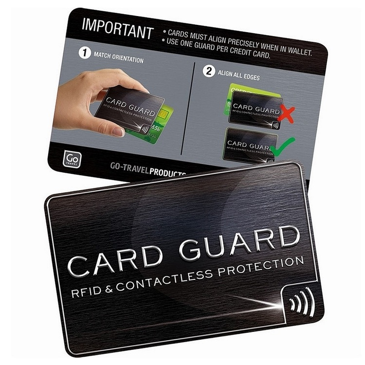 Go Travel RFID Card Guards Charcoal