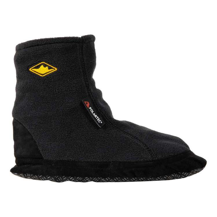Adult Unisex Bearfoot Fleece Booties Black