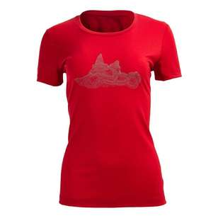Women's Banksia Merino Red Tee