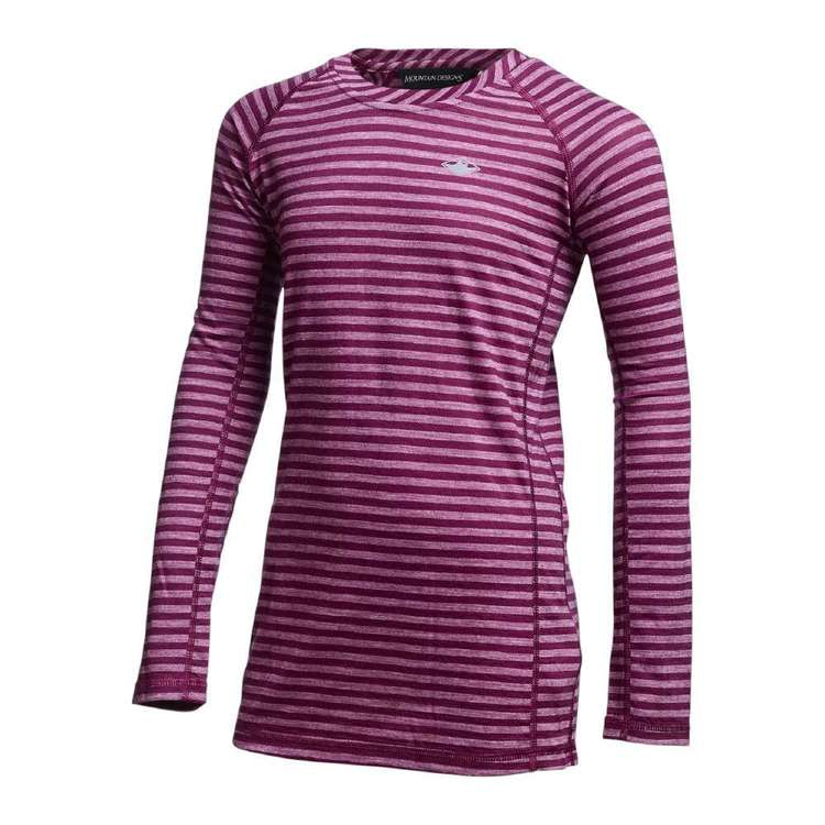 Kids' Merino Blend Long Sleeve Stripe Top