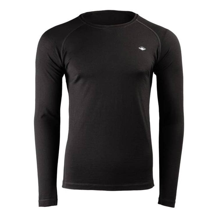 Men's Merino Blend Long Sleeve Top Black