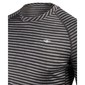 Men's Merino Blend Long Sleeve Stripe Crew Black Stripe