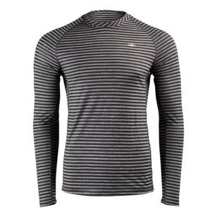 Men's Merino Blend Long Sleeve Stripe Crew