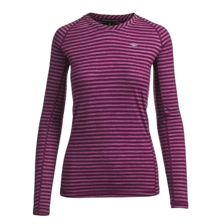 Women's Merino Blend Long Sleeve Stripe Top