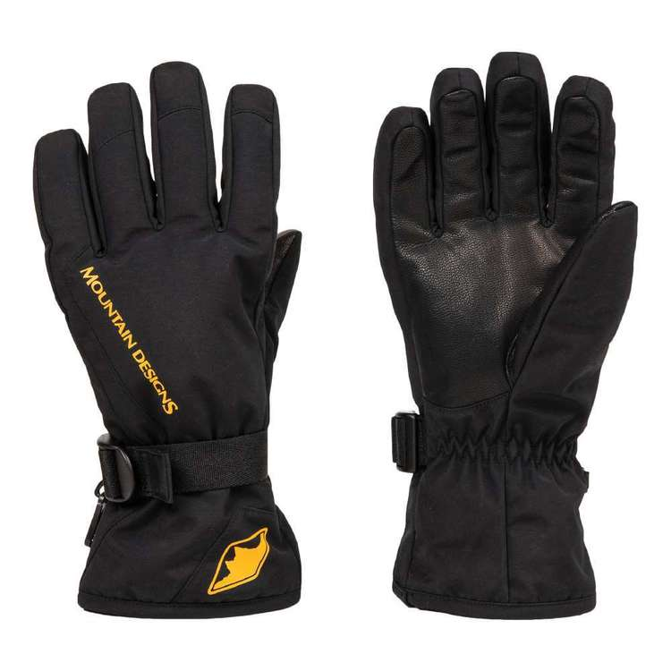 Unisex Snow Gloves Black