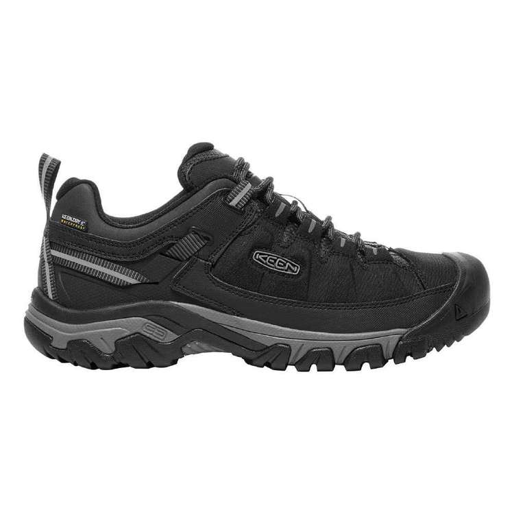 KEEN Men's Targhee Expedition Waterproof Shoes Black & Steel Grey