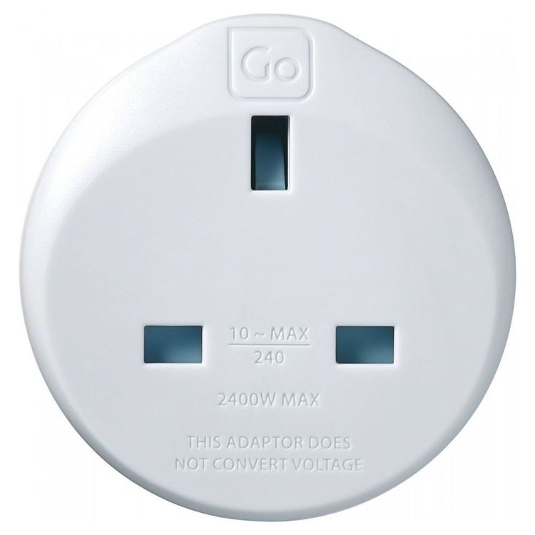 Go Travel UK-AUS Adaptor White