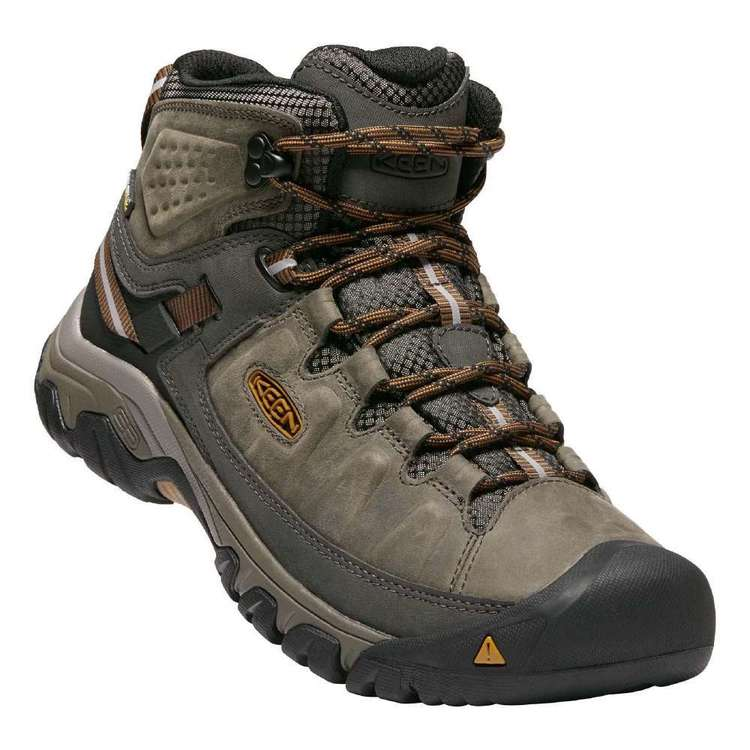 KEEN Men's Targhee III Waterproof Mid Boots Black Olive & Golden Brown
