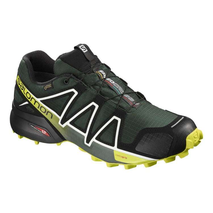 Salomon Men's Speedcross 4 GTX® Shoes Darkest Spruce, Black & Acid Lime