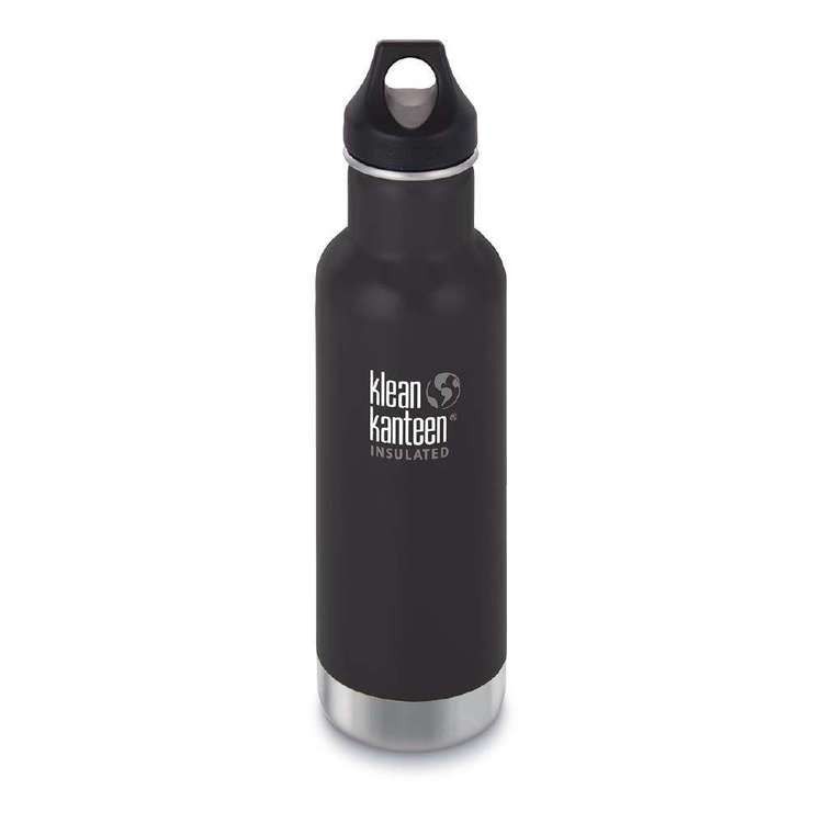 Klean Kanteen Insulated Classic 20oz Bottle Shale Black 600 mL