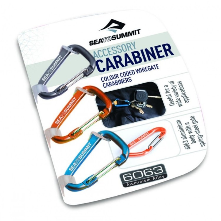 Sea to Summit Accessory Carabiner Set 3-Piece