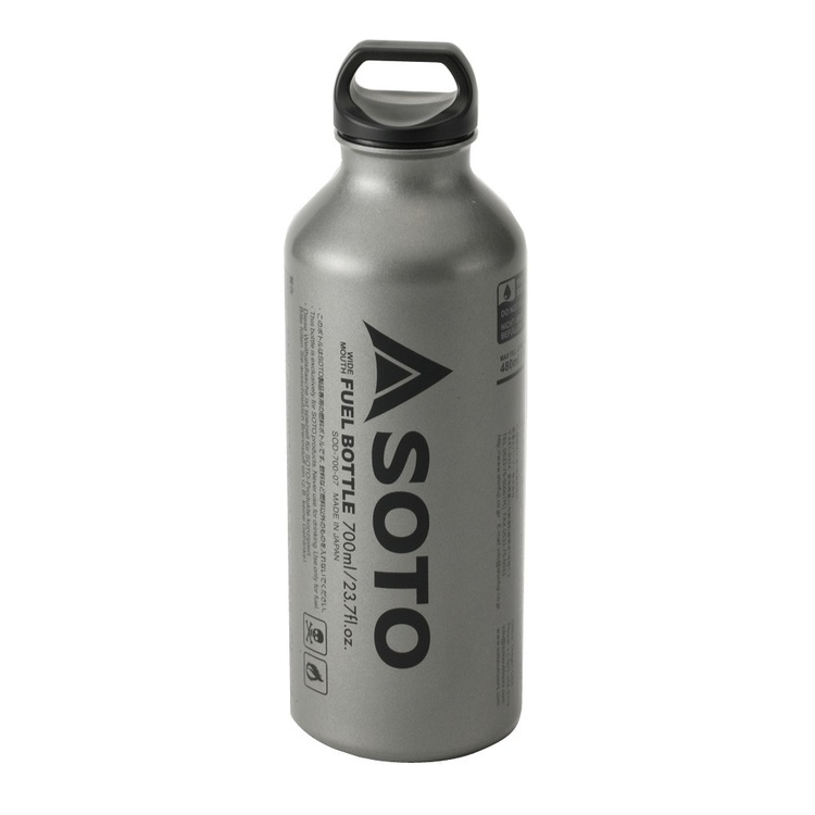 SOTO Muka Wide Mouth Fuel Bottle 700mL Silver