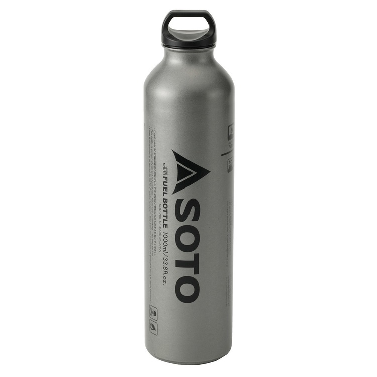 SOTO Muka Wide Mouth Fuel Bottle 1000mL Silver