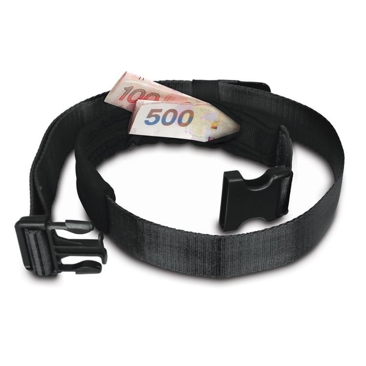 Pacsafe Cashsafe 25 Anti-Theft Deluxe Travel Belt Wallet Black