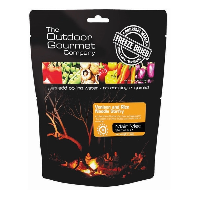 The Outdoor Gourmet Company Venison and Rice Noodle Stirfry Double Serve Natural Double