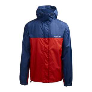 Men's Wallaman Rain Jacket Navy & Red