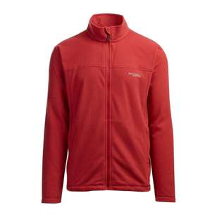 Men's Bruck Full Zip Fleece Jacket Lava Red
