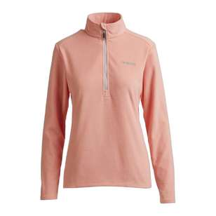 Women's Navis Half Zip Fleece Jacket Peach
