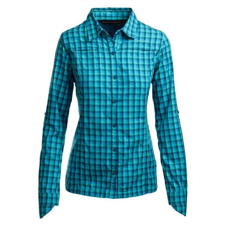 Women's Windjana Long Sleeve Shirt Turquoise Check