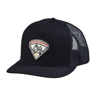 Contour Unisex 5 Panel Black Trucker Cap
