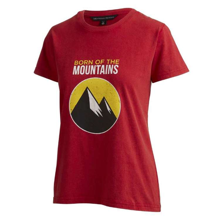 Women's Heritage Print Red Tee Red