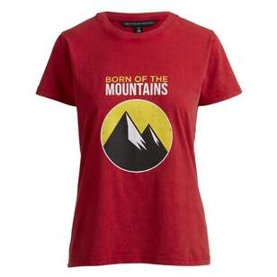 Women's Heritage Print Red Tee