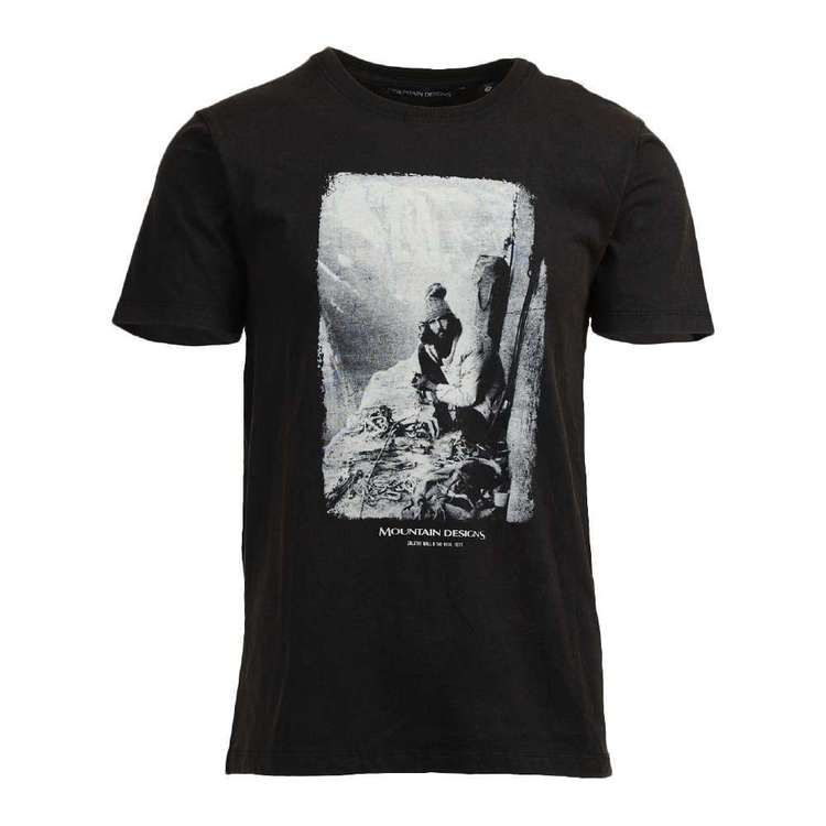 Men's Heritage Print Black Tee