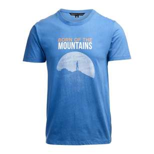 Men's Heritage Print Blue Tee