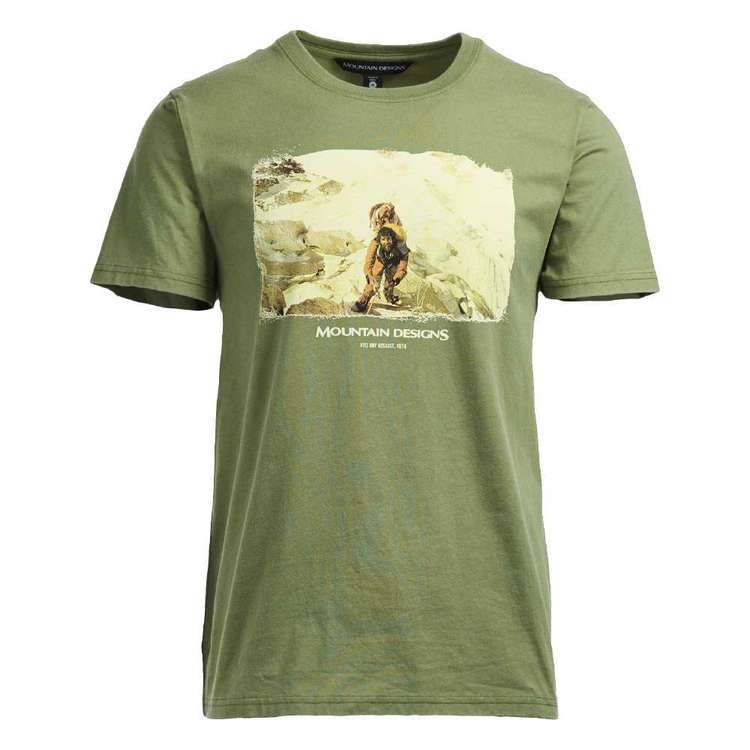 Men's Heritage Print Green Tee