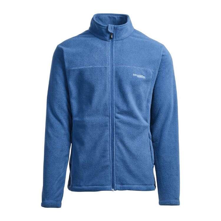 Men's Bruck Full Zip Fleece Jacket Mid Blue