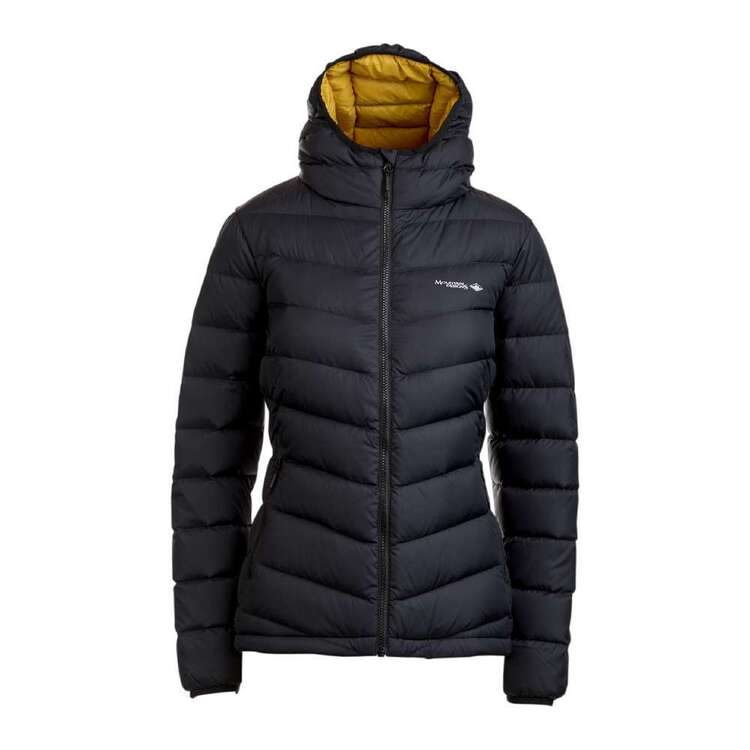 Women's Peak 700 Down Jacket Black & Yellow