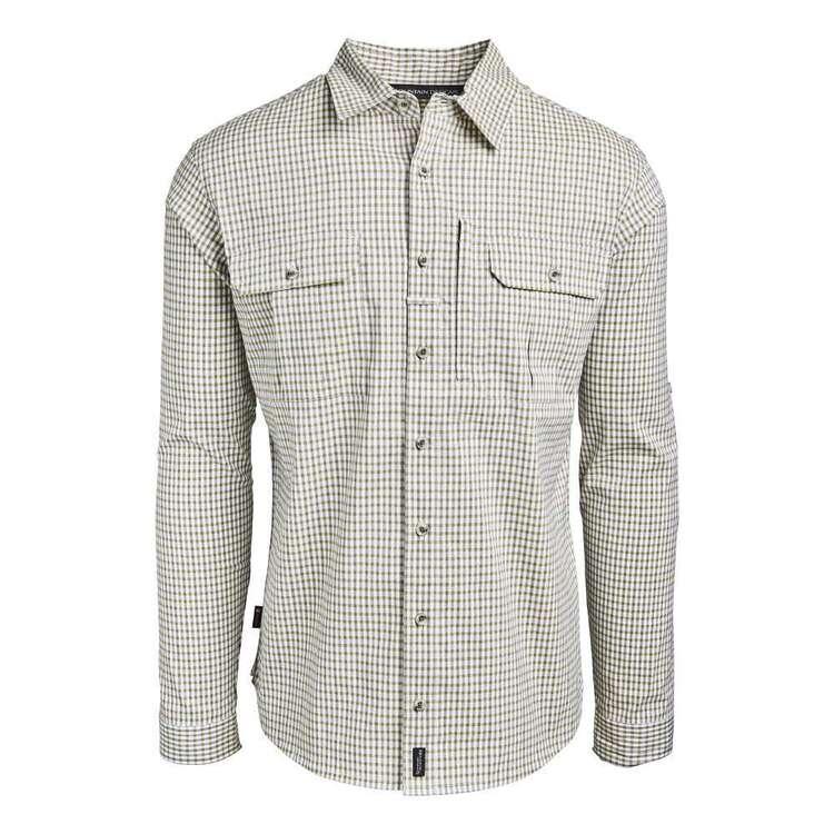 Men's Glenbrook Long Sleeve Shirt Green & White Check