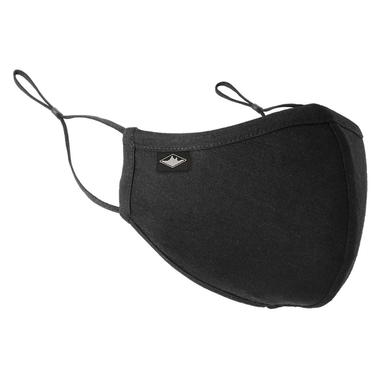 Merino Blend Unisex Face Mask Black One Size Fits Most