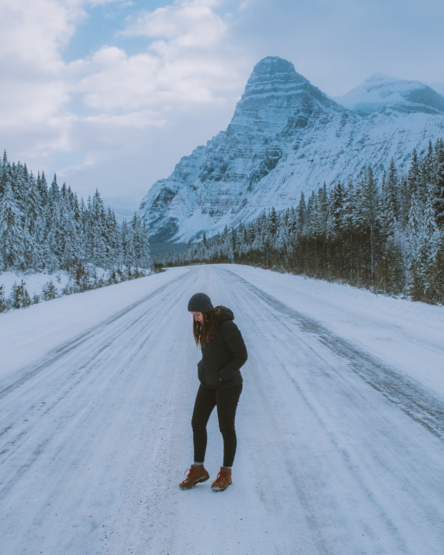 Icy Roads Meant That Travelling Down The Icefields Parkway